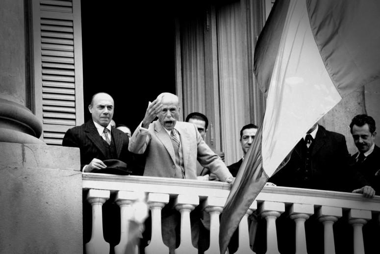 Recreació de la proclamació de la República Catalana per part de Francesc Macià. FOTO: Minoria Absoluta Recreació